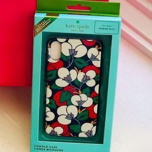 NWT KATE SPADE iPhone XS/X Breezy FloralMulti Case